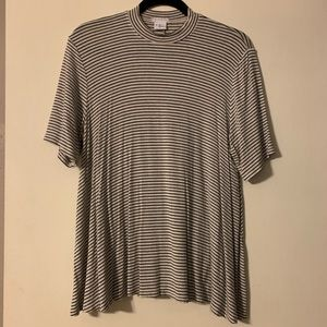 Urban outfitters mock neck striped t shirt